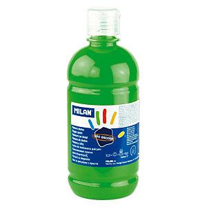 MILAN Pintura de dedos escolar botella de 500 ml. verde