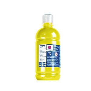 MILAN Témpera escolar botella de 500 ml. amarillo
