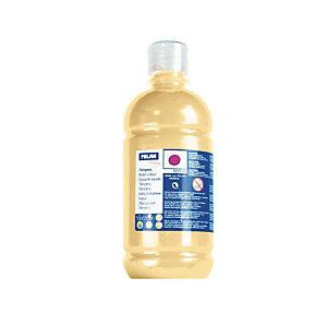 MILAN Témpera escolar botella de 500 ml. oro