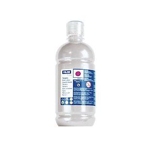 MILAN Témpera escolar botella de 500 ml. plata