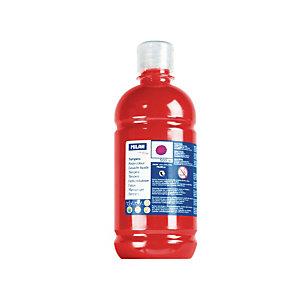 MILAN Témpera escolar botella de 500 ml. rojo