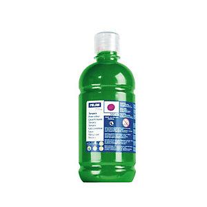 MILAN Témpera escolar botella de 500 ml. verde