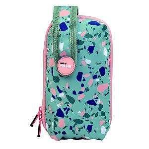 MILAN Terrazzo Green Kit 1 estuche con contenido, verde y rosa