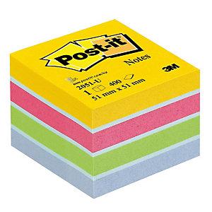 Mini cube Post-it® 3 M coloris assortis ultra