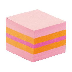 Mini kubus Post-it® 3 M geassorteerde kleuren roze