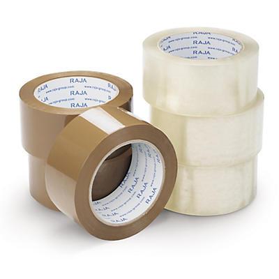 Mini - pack med 6 rullar tyst PP-packtejp - Rajatape i industrikvalitet