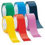 Mini pack of coloured vinyl packaging tape