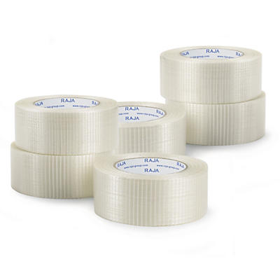 Mini-pack of cross woven filament tape