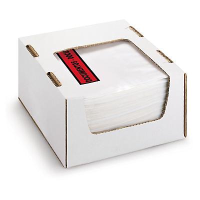 Mini-pacote de 250 envelopes auto-adesivos Pack List em caixa distribuidora RAJALIST