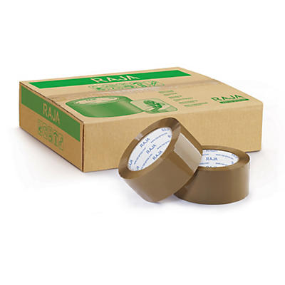 Mini-pacote 6 rolos fita adesiva polipropileno silencioso RAJA