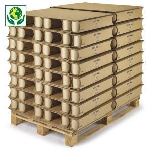 mini-palette carton KAYPAL, plateau double cannelure