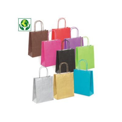 Mini-sac couleur##Minidraagtas van gekleurd kraftpapier