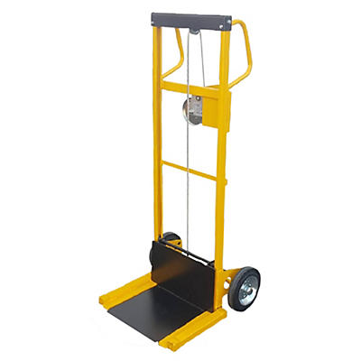 Mini sollevatore ad arganello bidirezionale ruote gommate portata 100 kg