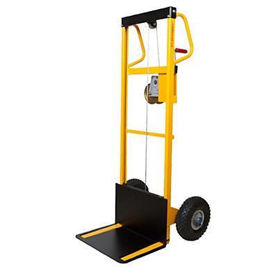 Mini sollevatore ad arganello con ruote antiforatura portata 100 Kg