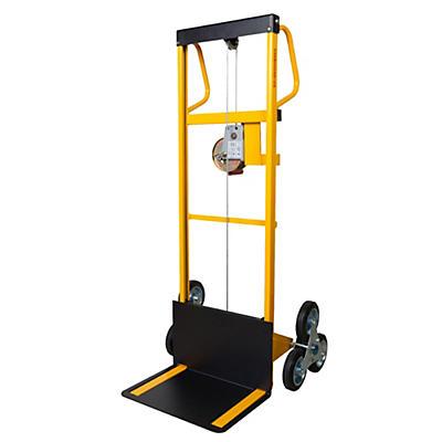 Mini sollevatore ad arganello con ruote saliscale portata 100 kg