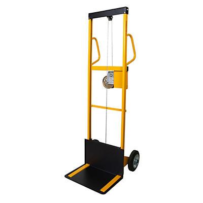 Mini sollevatore ad arganello grande alzata con ruote gommate portata 100 kg