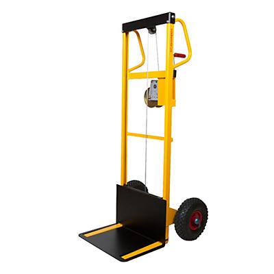 Mini sollevatore ad arganello ruote pneumatiche portata 100 kg