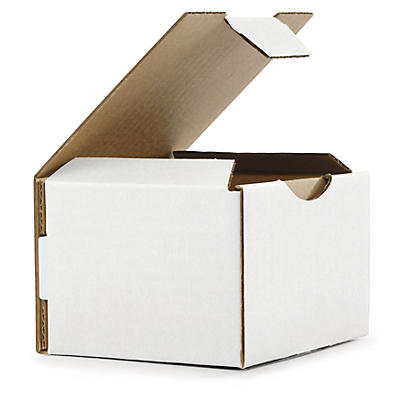 Mini white postal boxes