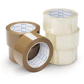 Minipack med 6 ruller støysvak PP-pakketape - Rajatape i industrikvalitet
