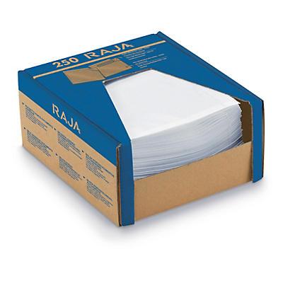 Mini-colis de 250 pochettes porte-documents adhésives transparentes##Minipack van 250 transparante documentenhoesjes