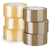 Minipakke med 6 ruller økonomisk PP-pakketape - standard kvalitet - Rajatape