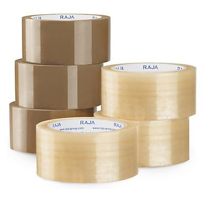 Minipakke med 6 ruller økonomisk PP-pakketape - sterk kvalitet - Rajatape