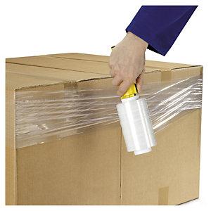 Minirollen gekleurde of transparante rekfolie met gratis kunststof handafroller met rem