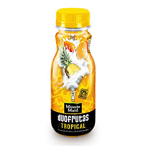 MINUTE MAID Duofrutas Tropical Bebida refrescante de zumo de frutas y leche desnatada con vitamina E, 275 ml