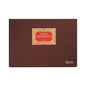 MIQUELRIUS M Libro de entrada de correspondencia, Folio apaisado, 315 x 215 mm