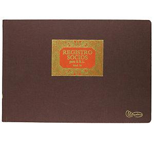 MIQUELRIUS M Libro registro socios, Folio apaisado