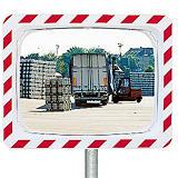 Miroir de circulation Vialux® polymir rouge et blanc 40 x 60 cm##POLYMIR spiegel rood/wit 40x60 cm
