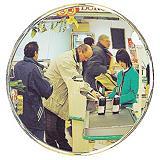Miroir d'intérieur de surveillance Décorativ ø 40 cm##Spiegel Décorativ Ø 40 cm