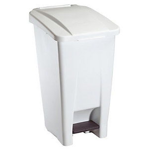 Mobiele vuilnisbak ROSSIGNOL 60 L, witte/witte kleur