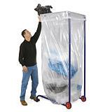 Mobiele vuilniszakhouder groot volume