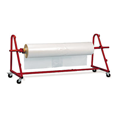 Mobile shrink film roll dispenser
