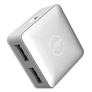 MOBILITY LAB Hub cube 4 ports USB 2.0 argent ML301655