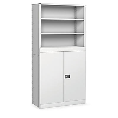 Modular shelving double hinged door kits