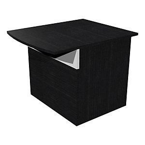 Module bas de banque d'accueil OLA - L. 80 - Frêne noir/blanc