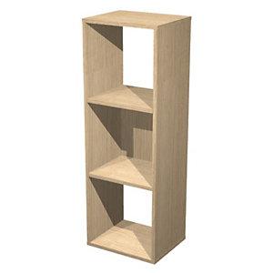 Module bibliothèque multicases - 3 cases, Chêne