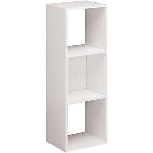 Module bibliothèque Multicases Classique -  3 cases - Blanc