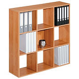Module bibliothèque Multicases Classique -  9 cases - Aulne