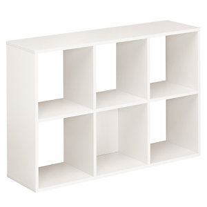 Module bibliothèque Multicases Color -  6 cases - Blanc