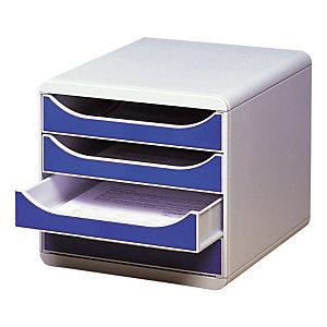 Module de classement Big Box classic Exacompta coloris gris/bleu foncé