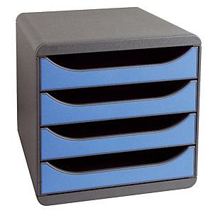 Module de classement Big Box classic Exacompta coloris gris souris/ Bleu glacé