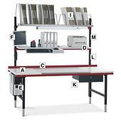 Module für Packtisch System 2000 Hüdig+Rocholz