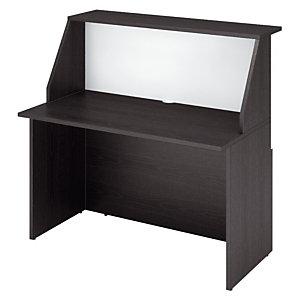 Module haut de banque d'accueil OLA - L. 120 - Frêne noir/blanc