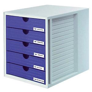 Module System-box 5 gesloten laden Han kleur grijs/blauw