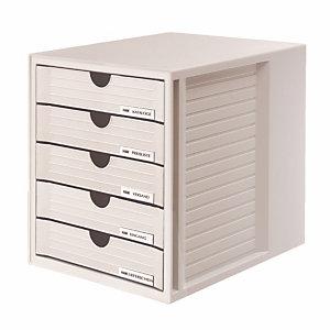 Module System-box 5 gesloten laden Han kleur grijs