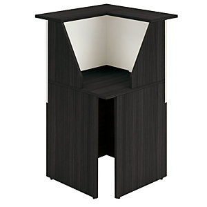 """Modulo angolare nero/bianco """"Reception Oasi"""" - Dimensioni cm 76 x 76 x 117"""
