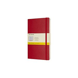 Moleskine Taccuino Classico Large, A quadretti, Copertina morbida, 13 x 21 cm, Rosso